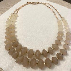 Tan/Gray Ombré Statement Necklace